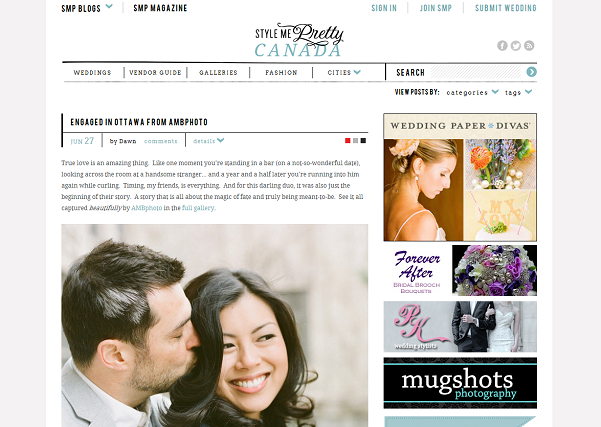 Tabaret Hall engagement session  featured on Style Me Pretty Canada