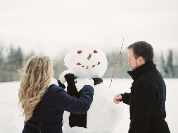 Snowy Engagement session in Ottawa Ontario