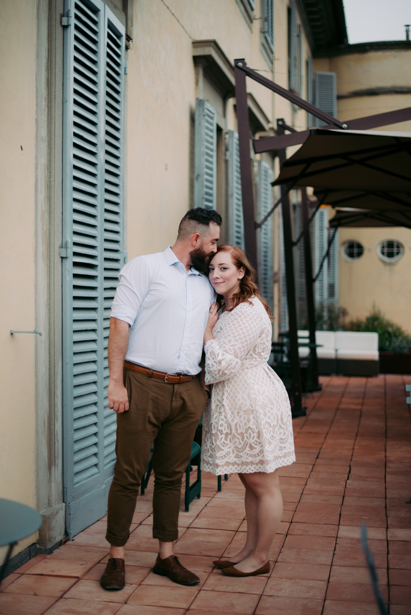 Shannon and Patrick's Florentine Engagement Session in Florence Italy
